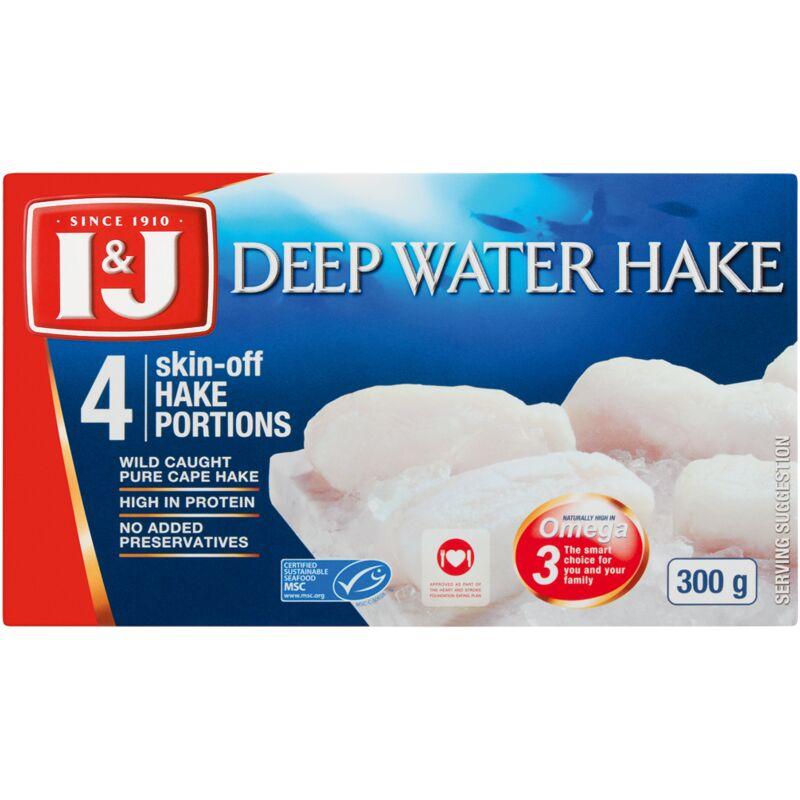 I&J DEEP WATER HAKE PORTIONS – 300G