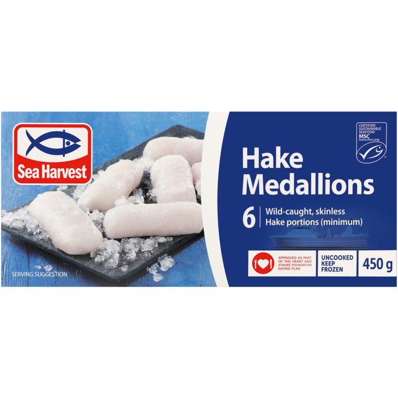 SEA HARVEST HAKE MEDALLIONS – 450G