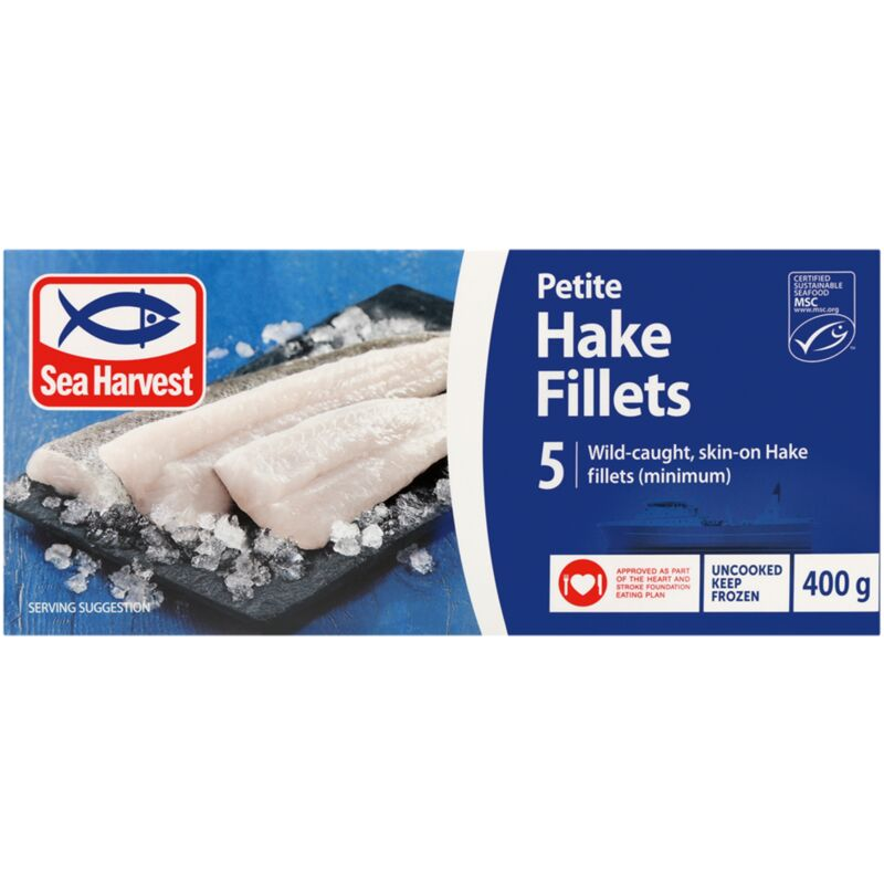 SEA HARVEST PETITE HAKE FILLETS – 400G