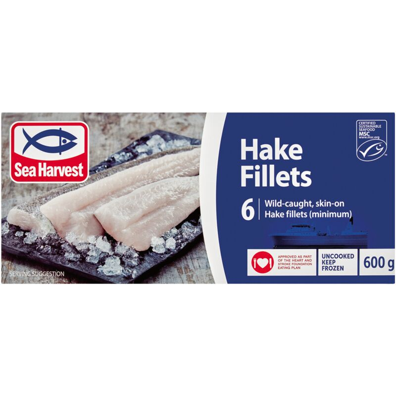 SEA HARVEST HAKE FILLETS – 600G