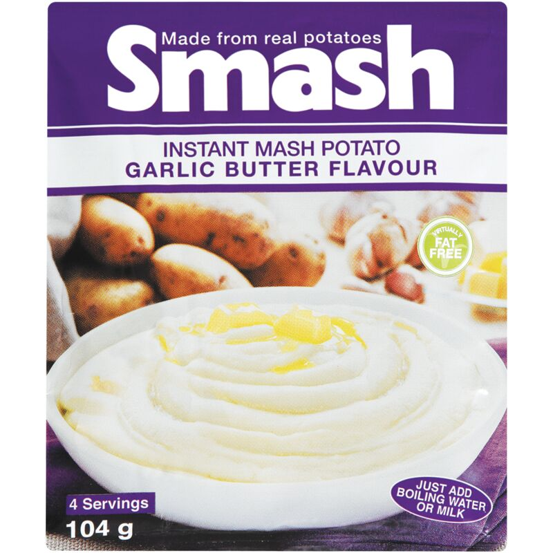 SMASH INSTANT MASH GARLIC BUTTER – 104G