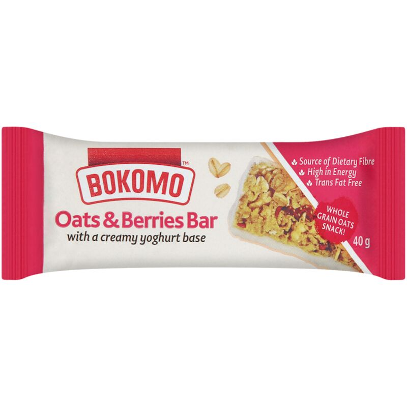 BOKOMO BARS BERRY OATS – 40G
