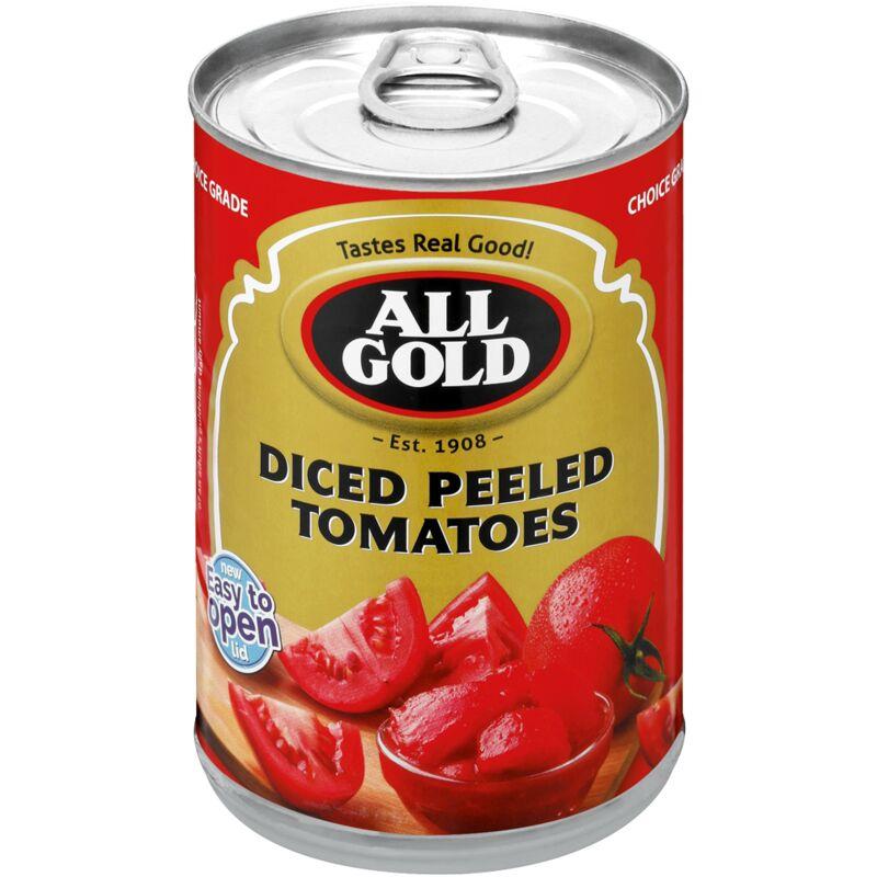 ALL GOLD TOMATO CHOPPED & PEELED – 410G