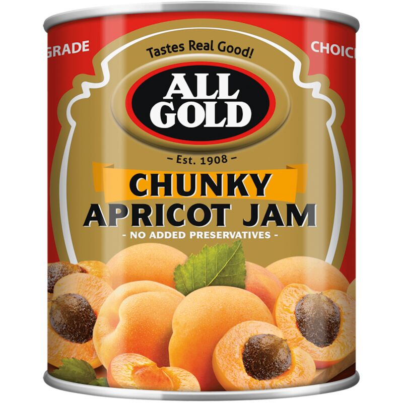 ALL GOLD JAM APRICOT CHUNKY – 450G