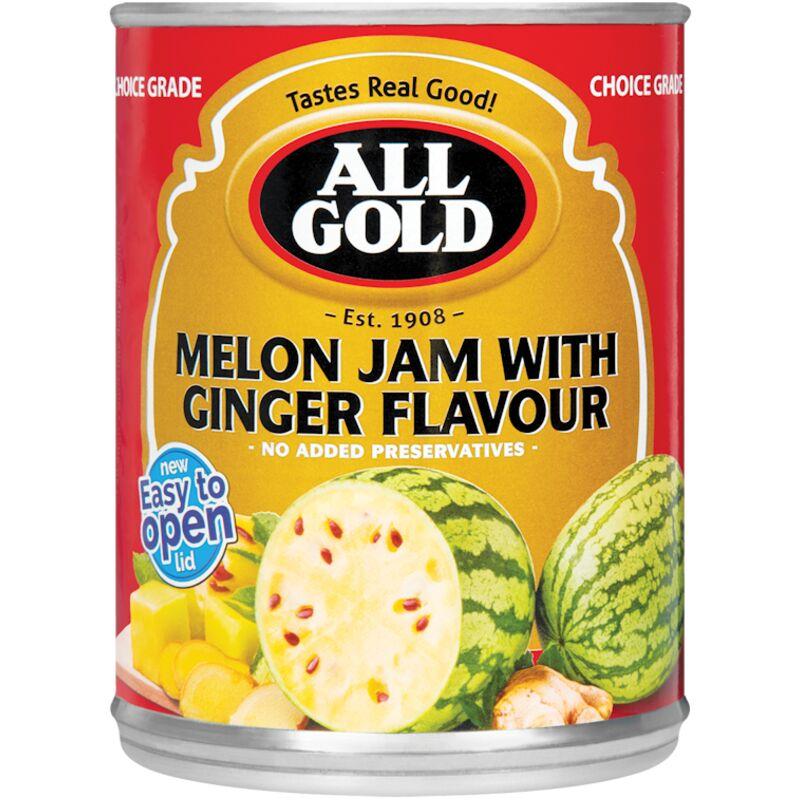 ALL GOLD JAM MELON/GINGER – 450G