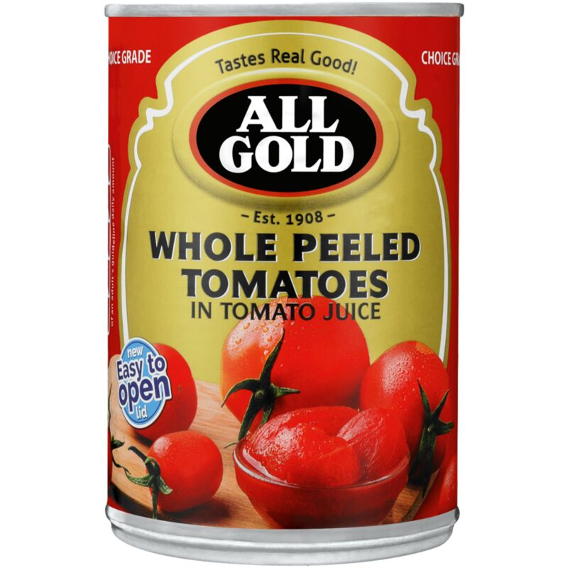 ALL GOLD TOMATO WHOLE PEELED – 400G