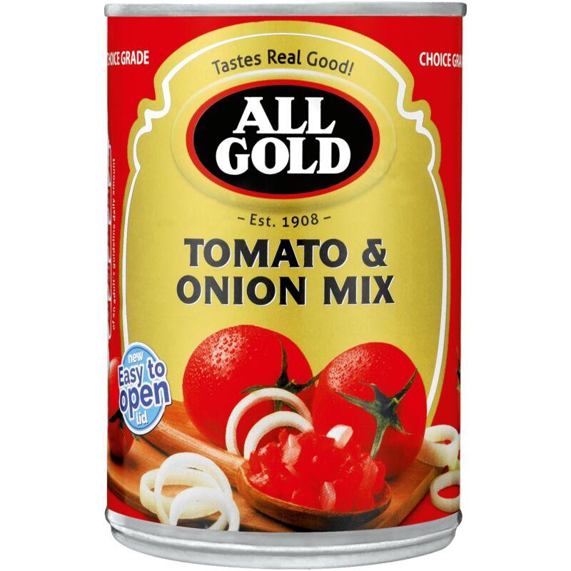 ALL GOLD TOMATO & ONION MIX – 410G