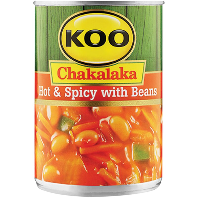 KOO CHAKALAKA WITH ADDED BEANS HOT & SPICY – 410G