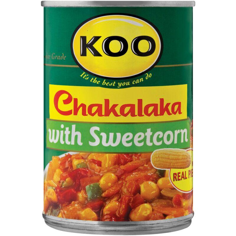 KOO CHAKALAKA WITH SWEETCORN – 410G
