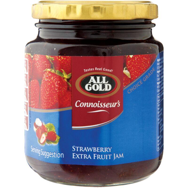 ALL GOLD JAM STRAWBERRY CONNOISSEURS – 320G
