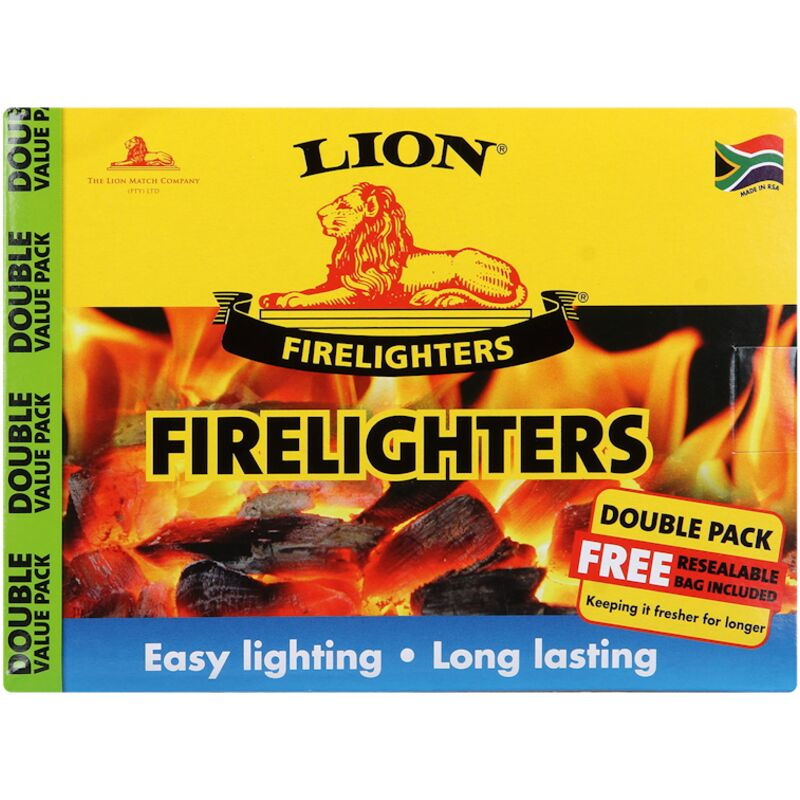 LION FIRELIGHTERS DOUBLE PACK – 1S