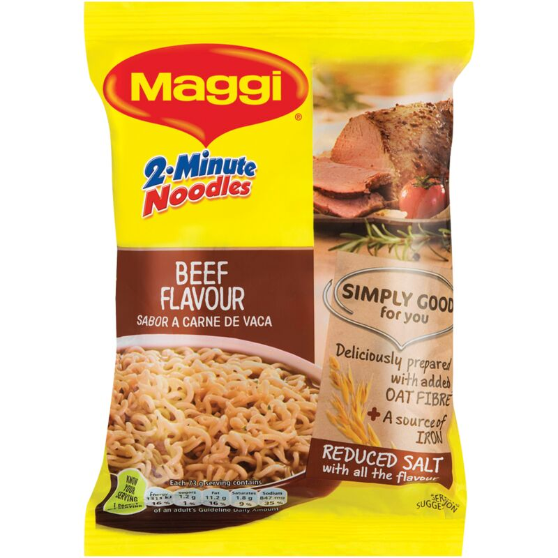 MAGGI 2 MINUTE NOODLES BEEF – 73G