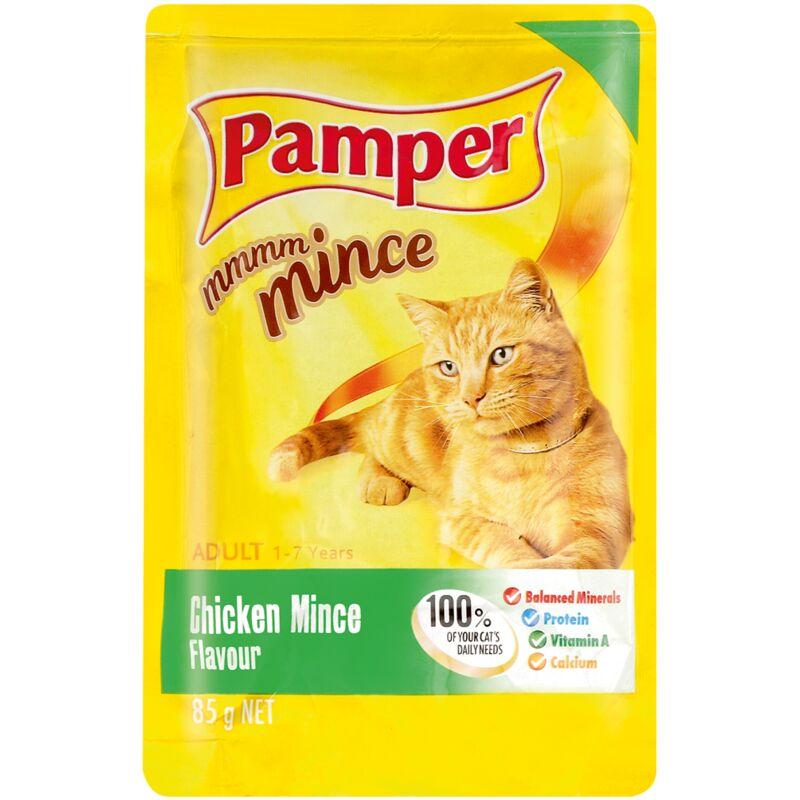 PAMPER FINE CUTS MINCE CHICKEN – 85G