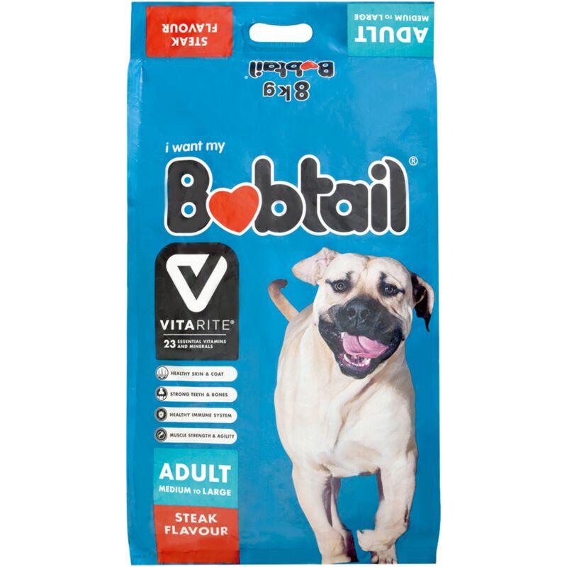 BOBTAIL MEDIUM & LARGE DOG STEAK – 8KG