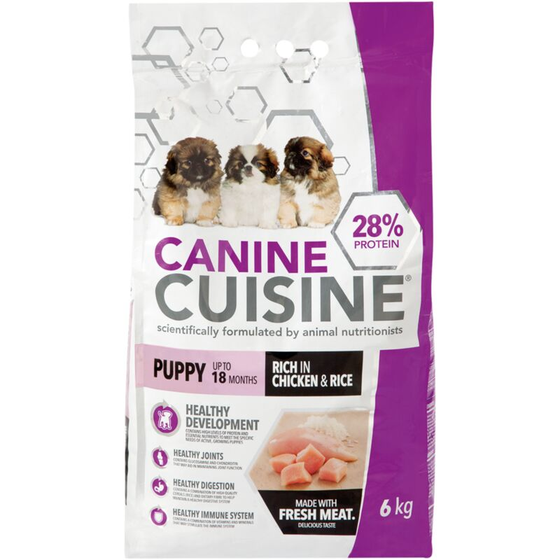 CANINE CUISINE PUPPY CHICKEN AND RICE – 6KG