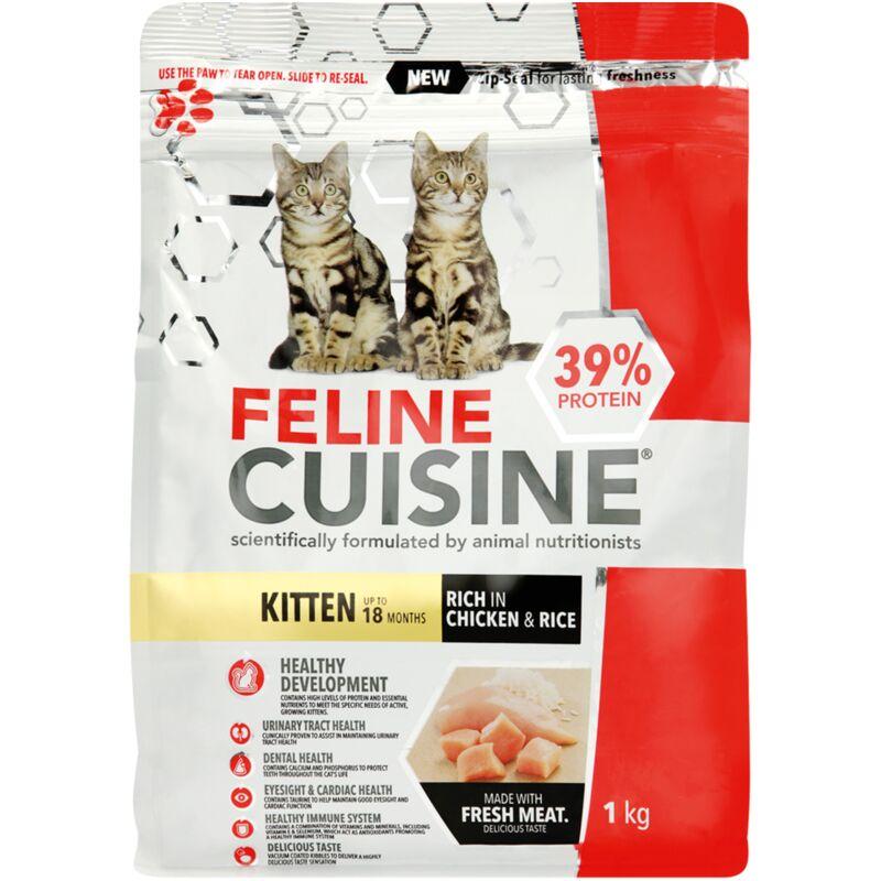 FELINE CUISINE KITTEN CHICKEN AND RICE – 1KG
