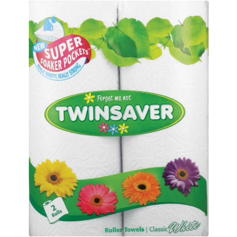 TWINSAVER 2PLY ROLLER TOWEL CLASSIC WHITE – 2S