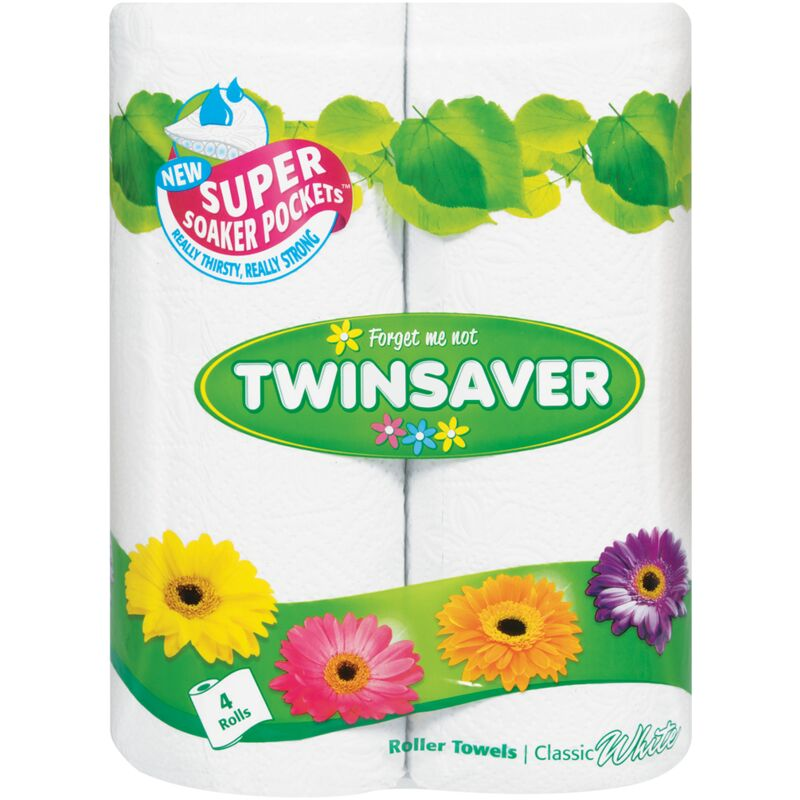 TWINSAVER 2PLY ROLLER TOWEL CLASSIC WHITE – 4S