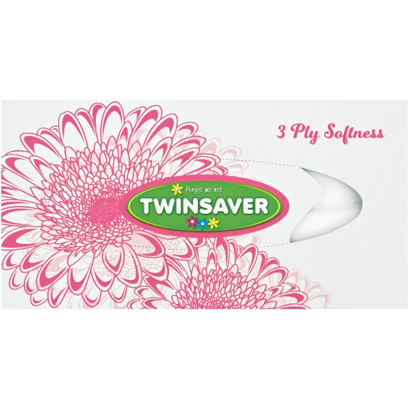 TWINSAVER 3PLY SPRING FACIAL TISSUES – 120S