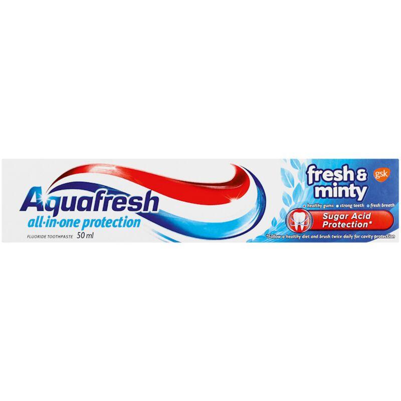 AQUAFRESH TOOTHPASTE FRESH & MINTY – 50ML