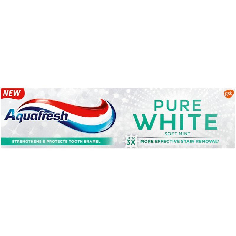 AQUAFRESH TOOTHPASTE PURE WHITE SOFT MINT – 75ML
