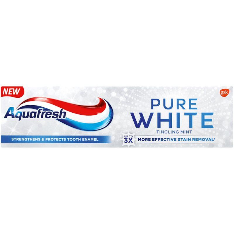 AQUAFRESH TOOTHPASTE PURE WHITE TINGLING MINT – 75ML