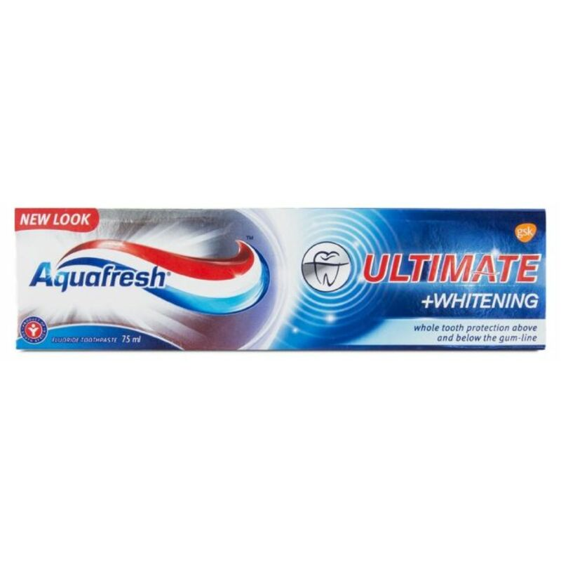 AQUAFRESH TOOTHPASTE ULTIMATE WHITENING – 75ML