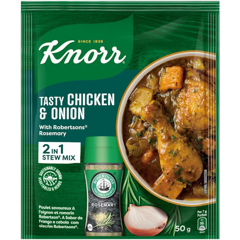 KNORR SOUP TASTY CHICKEN & ONION WITH ROSEMARY – 50G