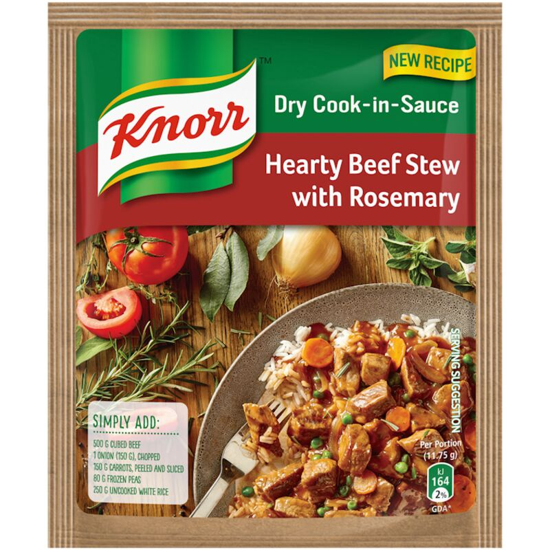 KNORR COOK-IN-SAUCE HEARTY BEEF STEW – 47G