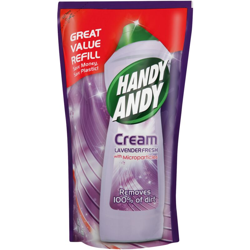 HANDY ANDY CREAM LAVENDER POUCH REFILL – 750ML