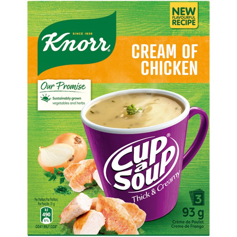 KNORR SOUP CREAM OF CHICKEN – 40G