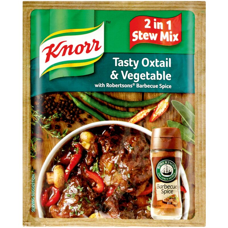 KNORR SOUP TASTY OXTAIL & VEG WITH RAJAH CURRY POWDER – 50G