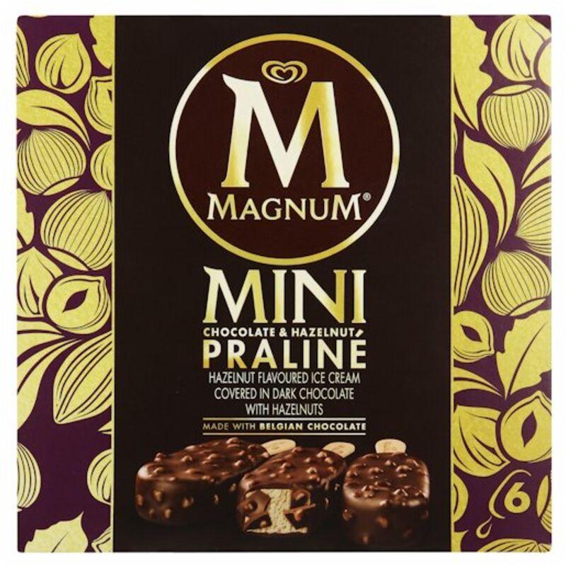 MAGNUM ICE CREAM HAZELNUT PRALINE 6S – 100ML