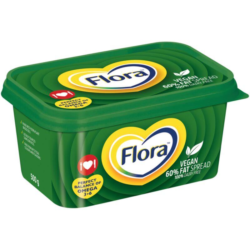 FLORA MARGARINE MED FAT VEGAN – 500G