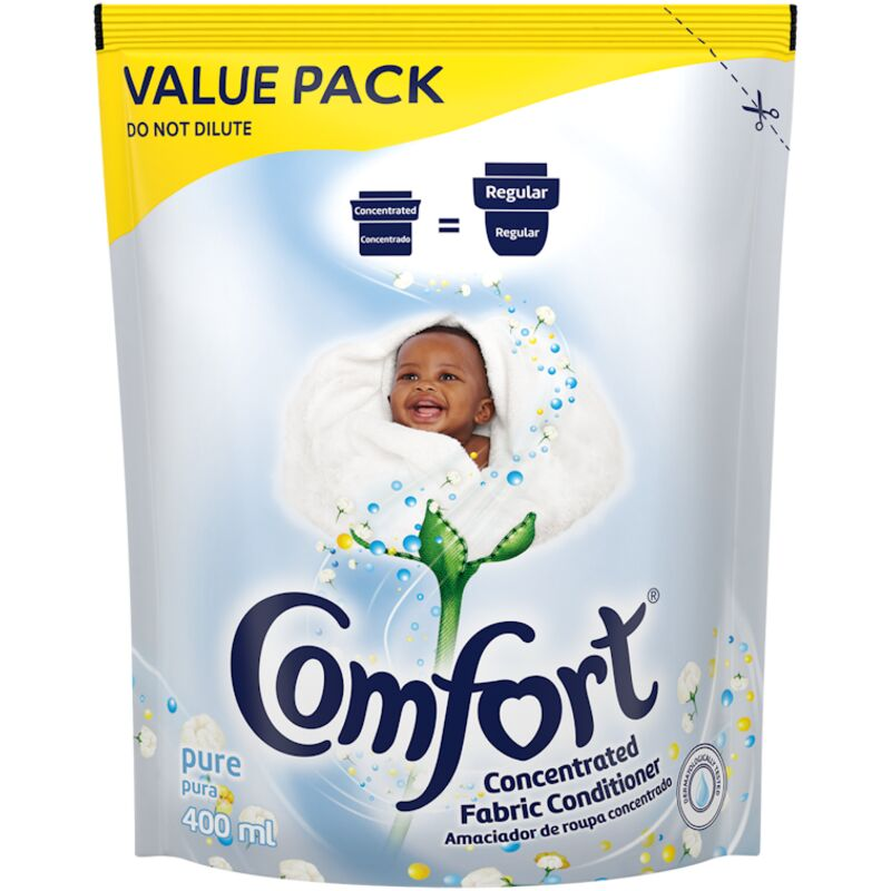 COMFORT FABRIC CONDITIONER PURE POUCH – 400ML