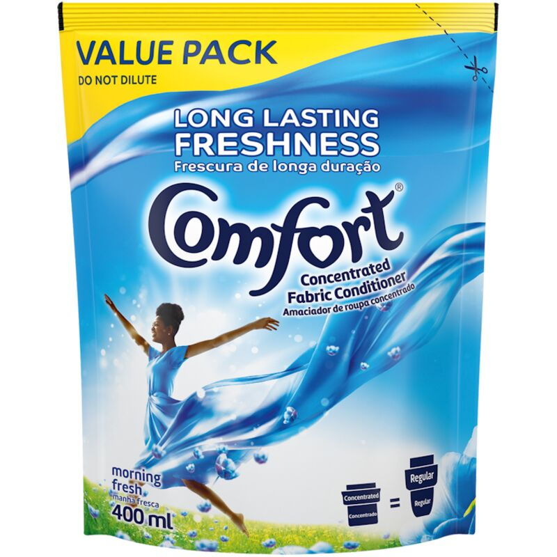 COMFORT FABRIC CONDITIONER FRESH POUCH – 400ML