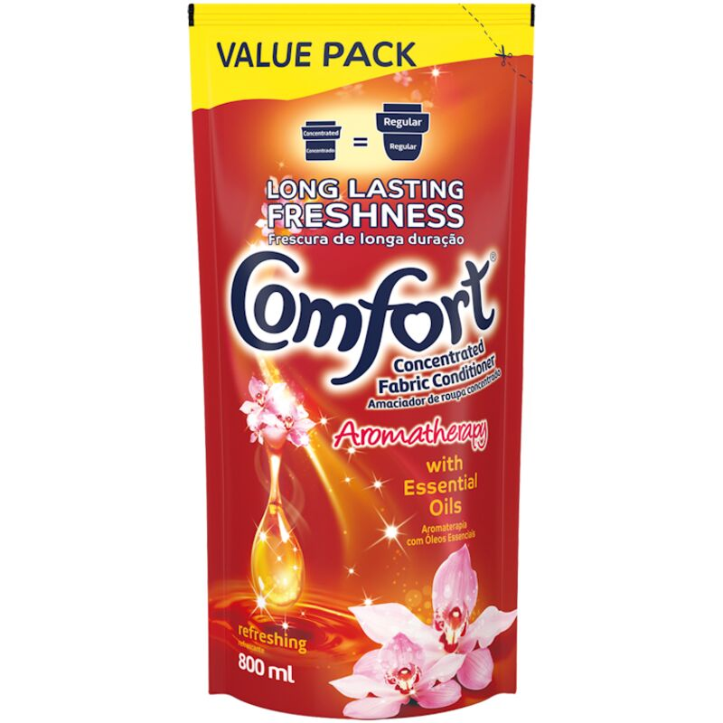 COMFORT FABRIC CONDITIONER REFRESHING VALUE PACK – 800ML