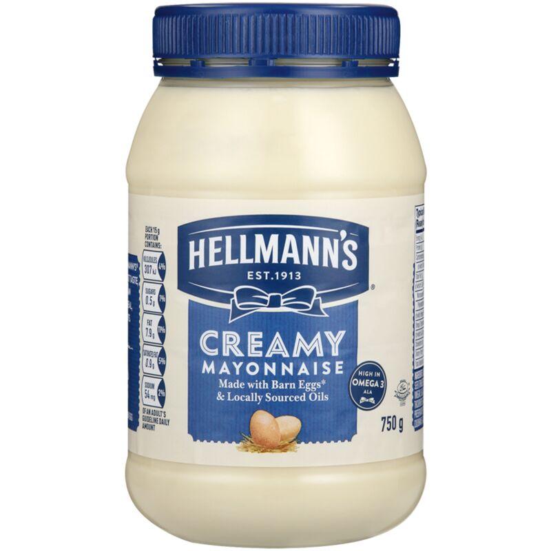 HELLMANNS MAYONNAISE CREAMY – 750G