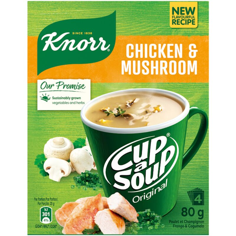 KNORR SOUP CHICKEN & MUSHROOM – 80G