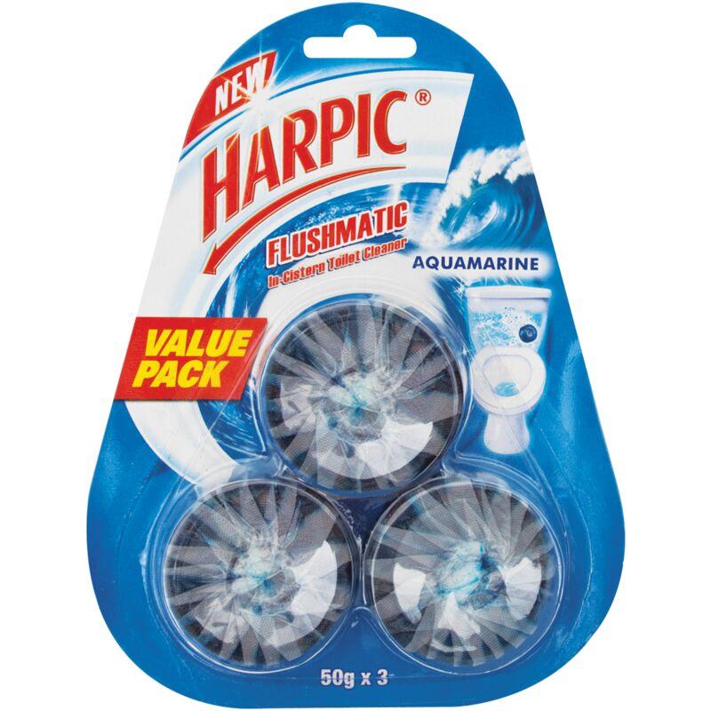 HARPIC FLUSHMATIC BLOCKS AQUAMARINE 3 PACK – 150G