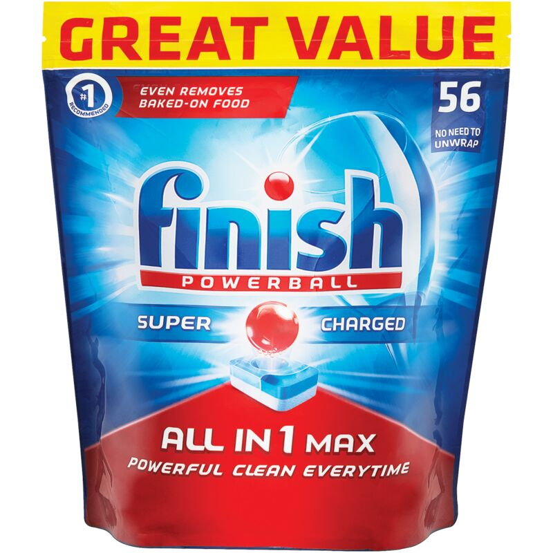 FINISH ALL IN ONE AUTO DISHWASHER TABLETS REGULAR – 56S