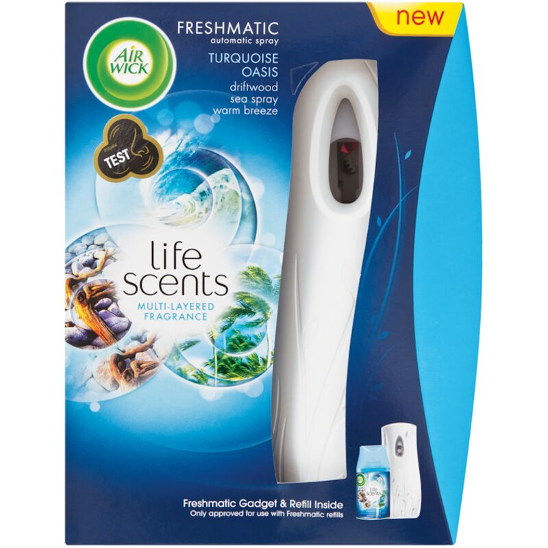 AIRWICK FRESHMATIC GADGET AND LIFE SCENTS TURQUOISE OASIS REFILL – 2S
