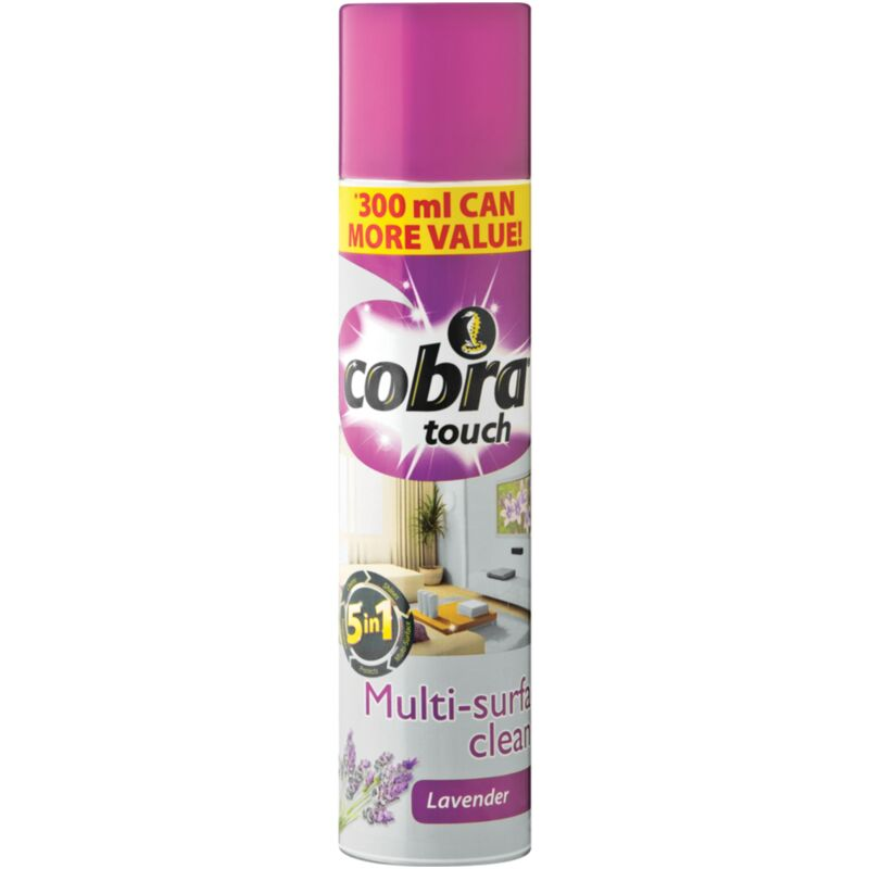 COBRA TOUCH MULTI SURFACE CLEANER LAVENDER – 300ML