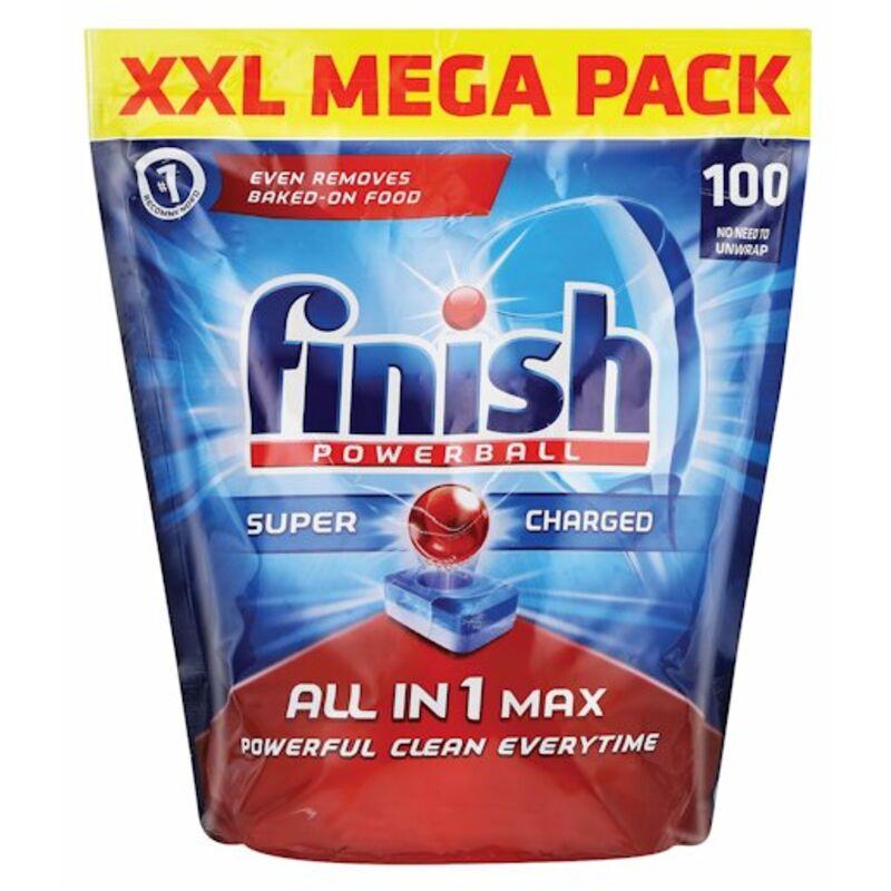 FINISH ALL IN ONE AUTO DISHWASH TABLETS REGULAR – 100S