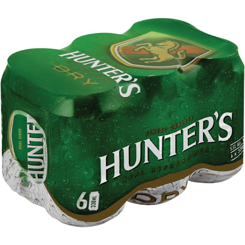 HUNTERS DRY CAN 6S – 330ML