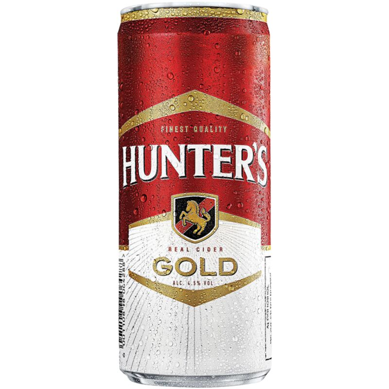 HUNTERS GOLD CAN – 330ML
