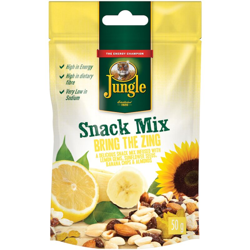 JUNGLE SNACK MIX BRING THE ZING – 50G