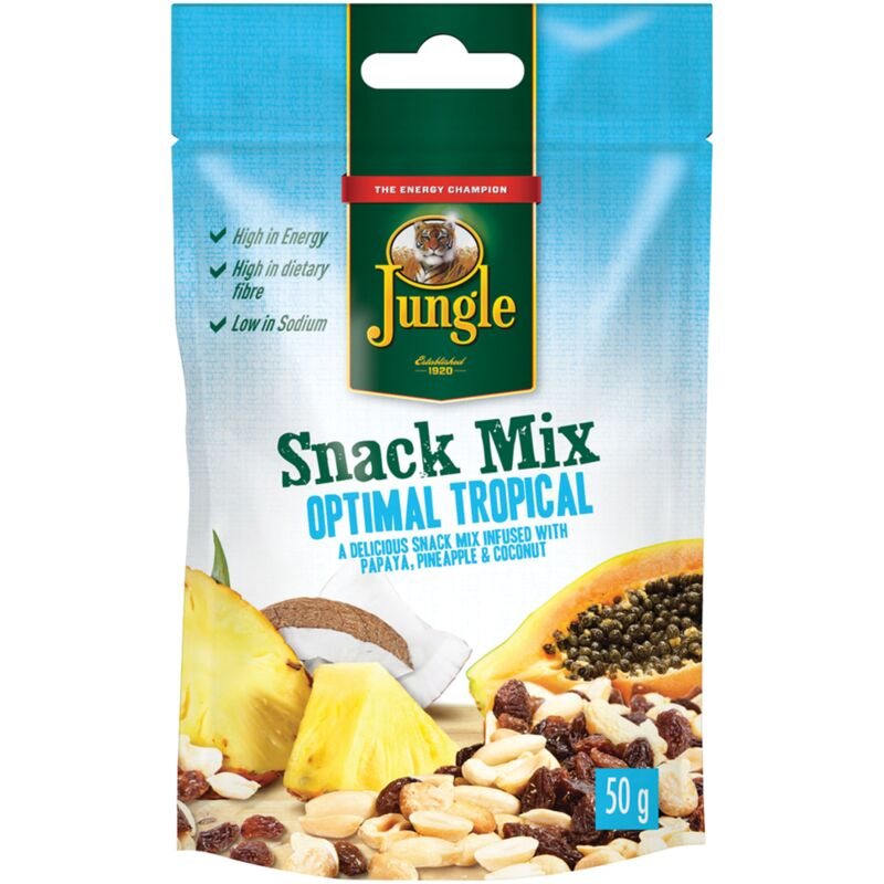 JUNGLE SNACK MIX OPTIMAL TROPICAL – 50G