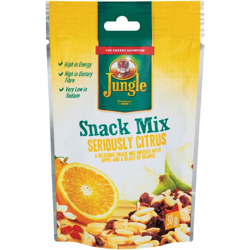 JUNGLE SNACK MIX SERIOUSLY CITRUS – 50G