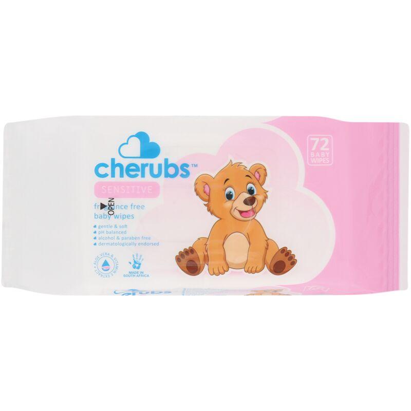 CHERUBS SENSITIVE BABY WIPES – 72S